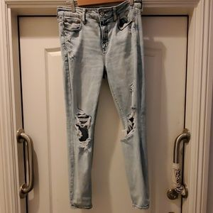 American eagle hi rise jegging light wash 14R